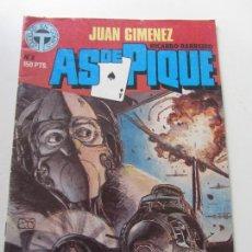 Cómics: AS DE PIQUE N.º 1 - JUAN GIMENEZ Y RICARDO BARREIRO - CALIDAD EN COMICS - TOUTAIN EDITOR 1988 E11. Lote 167488724