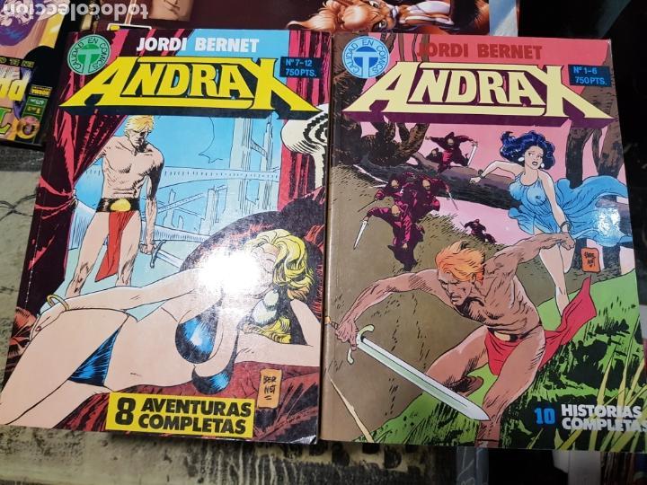 ANDRAX 12 NUMEROS COLECCION COMPLETA DE TOUTAIN EN DOS TOMOS (Tebeos y Comics - Toutain - Obras Completas)
