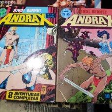 Comics : ANDRAX 12 NUMEROS COLECCION COMPLETA DE TOUTAIN EN DOS TOMOS. Lote 169173244