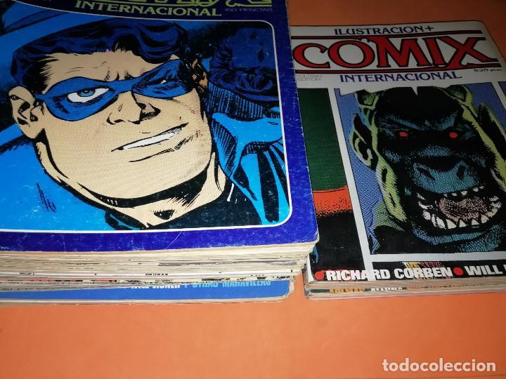 COMIX INTERNACIONAL. LOTE DE NUMEROS SUELTOS. DOS RETAPADOS Y ULTIMO NUMERO. (Tebeos y Comics - Toutain - Comix Internacional)