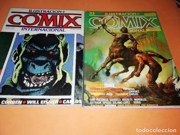 Cómics: COMIX INTERNACIONAL. LOTE DE NUMEROS SUELTOS. DOS RETAPADOS Y ULTIMO NUMERO. - Foto 3 - 169558564