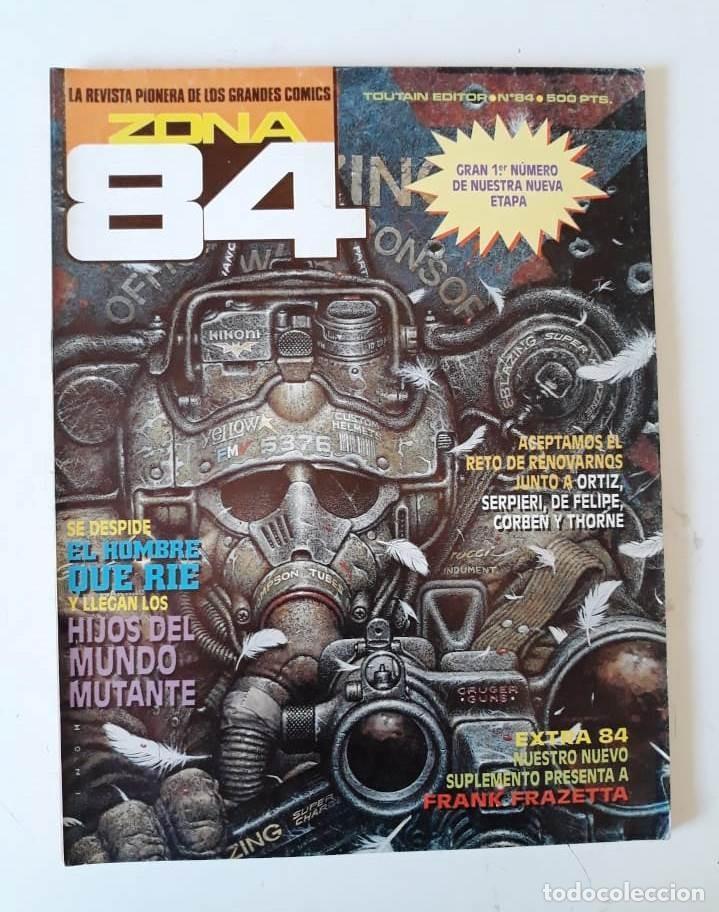 ZONA 84 Nº 84 - CON EXTENSO PORTFOLIO DE FRANK FRAZETTA (Tebeos y Comics - Toutain - Zona 84)