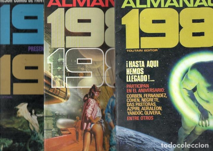 TRES ALMANAQUES 1984 : 1980, 1983 Y 1984 (Tebeos y Comics - Toutain - 1984)