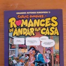 Cómics: ROMANCES DE ANDAR POR CASA. CARLOS GIMÉNEZ. TOUTAIN. Lote 174411452
