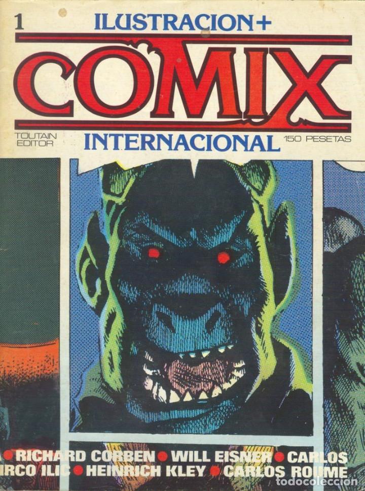 COMIX INTERNACIONAL. NÚMEROS DEL 1 AL 12 + POSTER GIGANTE (68 X 90) HOMENAJE AL COMIC USA. 1980-81 (Tebeos y Comics - Toutain - Comix Internacional)