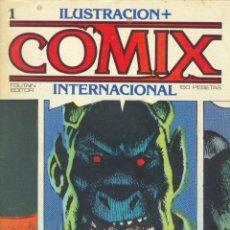 Cómics: COMIX INTERNACIONAL. NÚMEROS DEL 1 AL 12 + POSTER GIGANTE (68 X 90) HOMENAJE AL COMIC USA. 1980-81. Lote 176265364