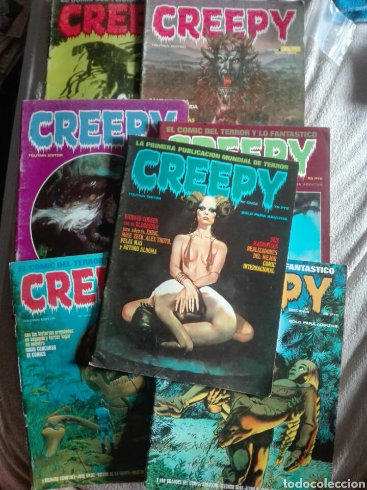 CREEPY LOTE 7 NUMEROS (Tebeos y Comics - Toutain - Creepy)