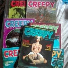 Cómics: CREEPY LOTE 7 NUMEROS. Lote 176909490