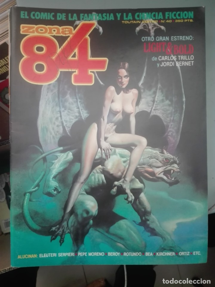 LOTE DE 8 REVISTAS ZONA 84 # (Tebeos y Comics - Toutain - Zona 84)