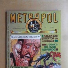 Cómics: Nº 4 - METROPOL - METRO COMICS - PAPELES FALACES, URBANOS Y CRIMINALES - TOUTAIN EDITOR. Lote 177559578