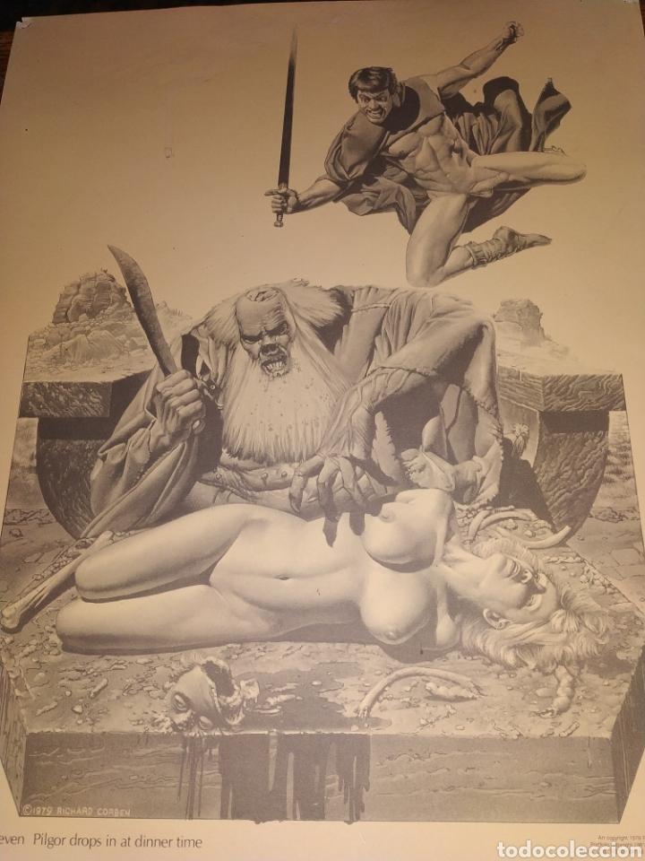 Cómics: LÁMINA RICHARD CORBEN 1979 PLATE SEVEN PILGOR DROPS IN AT DINNER TIME - Foto 7 - 177756672