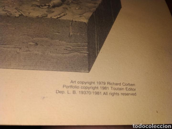 Cómics: LÁMINA RICHARD CORBEN 1979 PLATE SEVEN PILGOR DROPS IN AT DINNER TIME - Foto 8 - 177756672