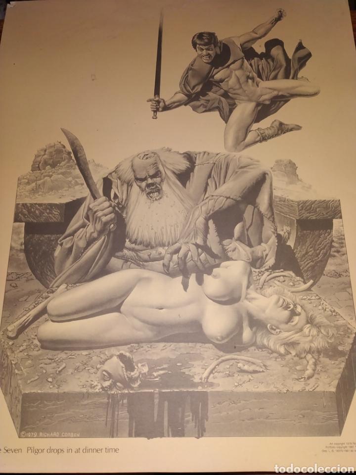 LÁMINA RICHARD CORBEN 1979 PLATE SEVEN PILGOR DROPS IN AT DINNER TIME (Tebeos y Comics - Toutain - Otros)