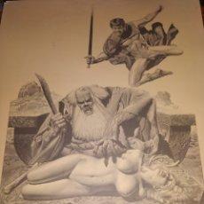 Cómics: LÁMINA RICHARD CORBEN 1979 PLATE SEVEN PILGOR DROPS IN AT DINNER TIME. Lote 177756672
