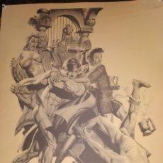 Cómics: LÁMINA DE RICHARD CORBEN 1978 PLATE THREE PILGOR DISCUSSES POLITICS WITH IS FRIENDS. Lote 177757648