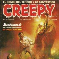 Fumetti: CREEPY- Nº 18 - PRIMERA PUBLICACIÓN MUNDIAL DE TERROR-1980-AURALEÓN-MAROTO-ALEX TOTH-BUENO-2127. Lote 178987242