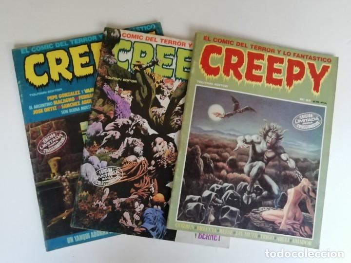 LOTE CREEPY Nº 39, 43 Y 65 (AÑO 1984) (Tebeos y Comics - Toutain - Creepy)