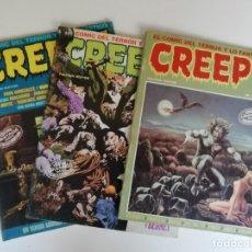 Cómics: LOTE CREEPY Nº 39, 43 Y 65 (AÑO 1984). Lote 180297783
