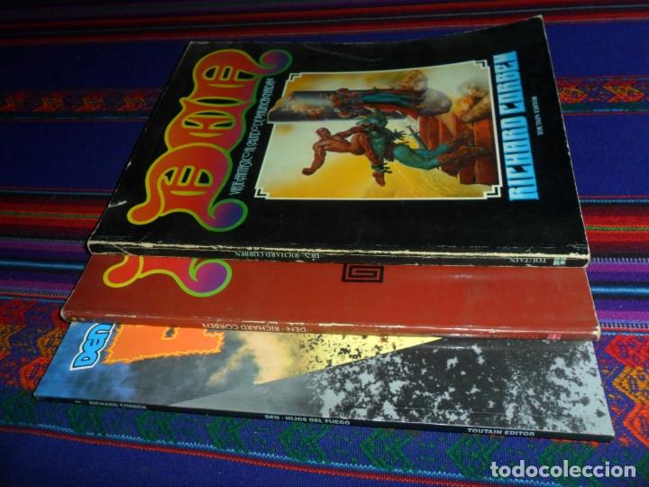 Cómics: RICHARD CORBEN DEN Nº 1 1ª EDICIÓN 1978, DEN Nº 2 MUVOVUM 1ª EDICIÓN 1984, DEN Nº 3 FUEGO 1992 RAROS - Foto 2 - 180443647