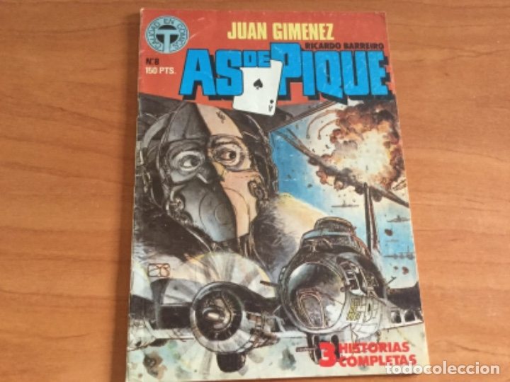 JUAN GIMÉNEZ Y RICARDO BARREIRO. AS DE PIQUE Nº 8, 3 HISTORIAS COMPLETAS. TOUTAIN 1988 (Tebeos y Comics - Toutain - Otros)