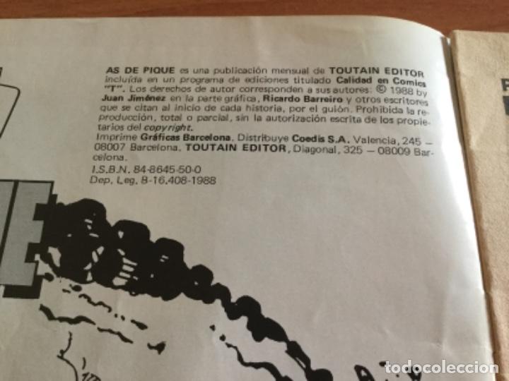 Cómics: Juan Giménez y Ricardo Barreiro. As de Pique Nº 8, 3 historias completas. Toutain 1988 - Foto 2 - 182142548