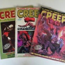 Cómics: LOTE REVISTAS CREEPY Nº 55, 56 Y 72 (AÑO 1985). Lote 182560600
