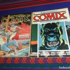 Cómics: COMIX INTERNACIONAL Nº 1 Y RETAPADO Nº 2 CON LOS NºS 8, 9 Y 10. TOUTAIN 1980. 150 Y 530 PTS. BE.. Lote 183455736