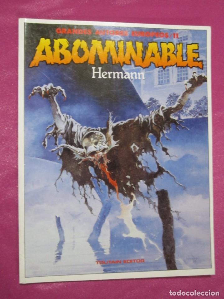 Cómics: ABOMINABLE HERMANN GRANDES AUTORES TOUTAIN - Foto 3 - 184487577