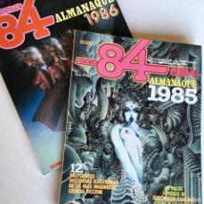 Cómics: LOTE DE 2 REVISTAS DE CÓMIC ZONA 84 ALMANAQUE 1985 Y 1986, TOUTAIN EDITOR. VER FOTOS Y DESCRIPCIÓN. Lote 184865417
