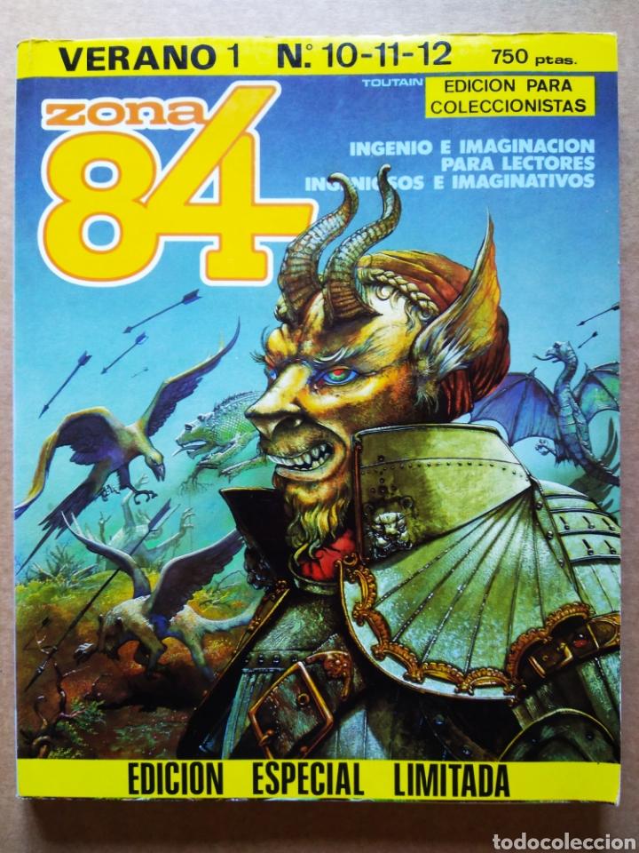 RETAPADO REVISTA ZONA 84 VERANO 1: NÚMEROS 10-11-12. EDICIÓN ESPECIAL LIMITADA PARA COLECCIONISTAS (Tebeos y Comics - Toutain - Zona 84)