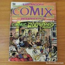 Fumetti: ILUSTRACION + COMIX INTERNACIONAL 51 COMIC UNDERGROUND, RICHARD CORBEN, CRUMB... TOUTAIN. Lote 186677203