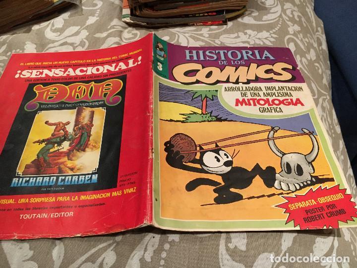 HISTORIA DE LOS COMICS. Nº 3. EDITORIAL TOUTAIN. (Tebeos y Comics - Toutain - Otros)