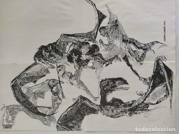 Cómics: Doble Póster CHICHONI / JOSEPH CLEMENT - 53x41 cmts - Procedente de la revista ZONA 84 - Foto 2 - 193358461