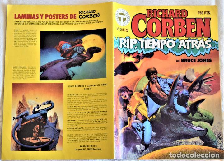 Cómics: RICHARD CORBEN Nº 2 - RIP, TIEMPO ATRAS - POR BRUCE JONES - TOUTAIN EDITOR - TAPA BLANDA - Foto 2 - 195275233