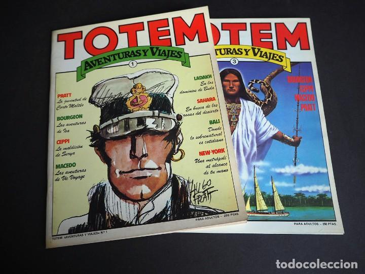 TOTEM . AVENTURAS Y VIAJES. LOTE CON DOS TOMOS. NÚMEROS 1 Y 3. NUEVA FRONTERA 1983 (Tebeos y Comics - Toutain - Otros)