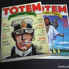 Cómics: TOTEM . AVENTURAS Y VIAJES. LOTE CON DOS TOMOS. NÚMEROS 1 Y 3. NUEVA FRONTERA 1983. Lote 196161431
