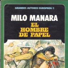 Cómics: GRANDERS AUTORES EUROPEOS / 1 MILO MANARA EL HOMBRE DE PAPEL TOUTAIN EDITOR. Lote 197394147