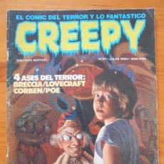 Cómics: CREEPY Nº 61 - TOUTAIN (CI). Lote 197534207