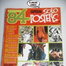 Cómics: ZONA 84, ESPECIAL SOLO POSTERS Nº 2, ED. TOUTAIN (A). Lote 198812462