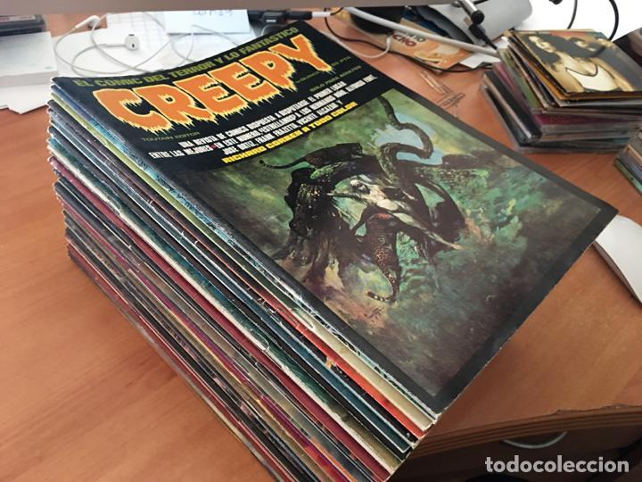 CREEPY LOTE 37 EJEMPLARES EXCELENTE ESTADO Nº 15 A 53 EXCEPTO 35 Y 50 (TOUTAIN) (COIB74) (Tebeos y Comics - Toutain - Creepy)