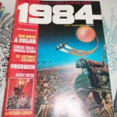 Cómics: 1984 Nº 41 TOUTAIN 1982 CON POSTER DE RICHARD CORBEN. Lote 199680415