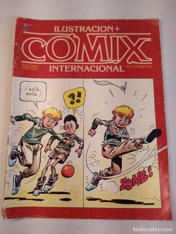 REVISTA Nº 5 ILUSTRACION + COMIX INTERNACIONAL TOUTAIN EDICIONES AÑO 1980. (Tebeos y Comics - Toutain - Comix Internacional)