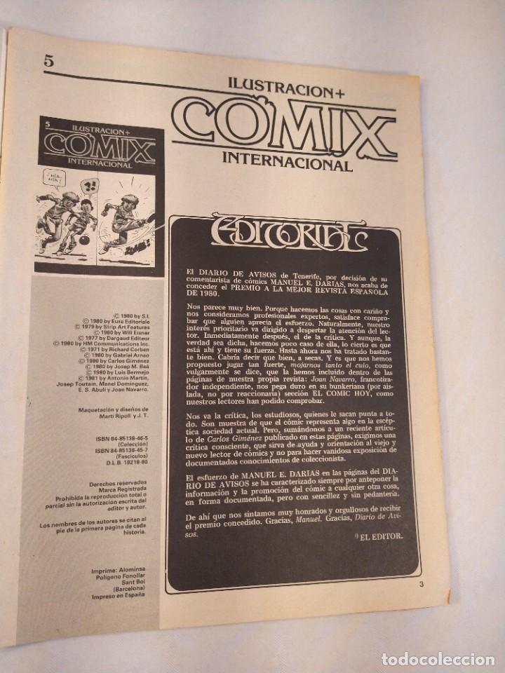 Cómics: REVISTA Nº 5 ILUSTRACION + COMIX INTERNACIONAL TOUTAIN EDICIONES AÑO 1980. - Foto 3 - 201201757