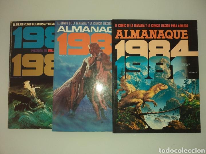 3 ALMANAQUES DE 1984 (Tebeos y Comics - Toutain - 1984)