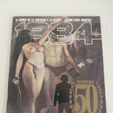 Comics : 1984 - TOUTAIN EDITOR - Nº 50 (CON POSTALES ORIGINALES) MUY BUEN ESTADO - COMIC FANTASIA Y FICCION. Lote 202584900