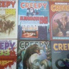 Cómics: CREEPY - 6 ALMANAQUES ANUALES (1980,1981,1982,1983,1984,1985). Lote 203042205