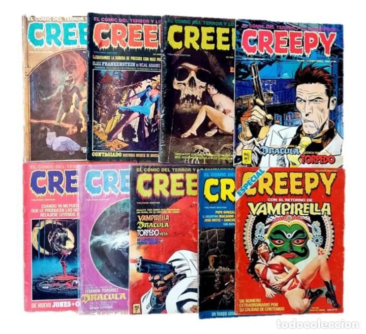 LOTE CÓMICS TERROR CREEPY - EDITORIAL TOUTAIN - AÑOS 80 (Tebeos y Comics - Toutain - Creepy)