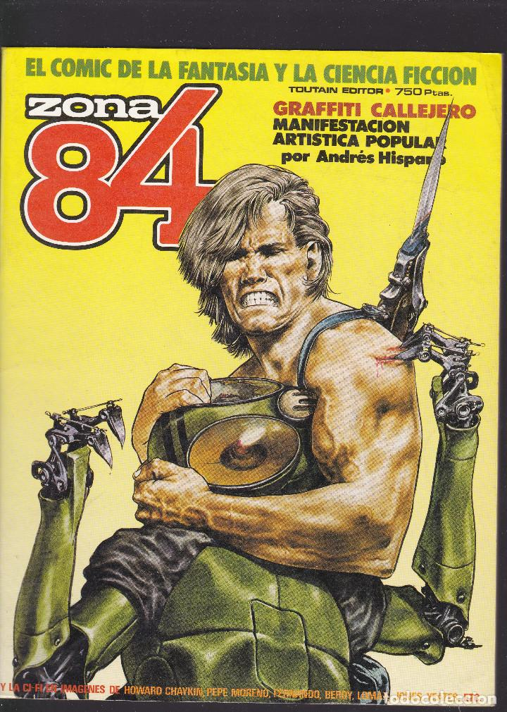 ZONA 84 ZONA84 - EXTRA Nº 12 - TOMO RETAPADO CONTIENE LOS Nº 35 - 36 Y 37 - TOUTAIN - (Tebeos y Comics - Toutain - 1984)