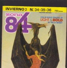 Cómics: ZONA 84 ZONA84 - INVIERNO Nº 2 - TOMO RETAPADO CONTIENE LOS Nº 34 - 35 Y 36 - TOUTAIN -. Lote 205009463