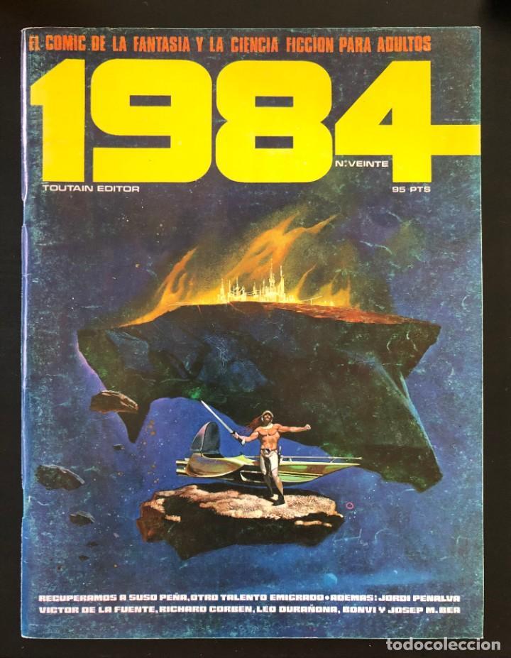 1984 Nº 20 VEINTE TOUTAIN PORTADA CON USO, INTERIOR BIEN (Tebeos y Comics - Toutain - 1984)